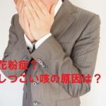 花粉症?咳のみが出る時の原因と対策はコレだ!